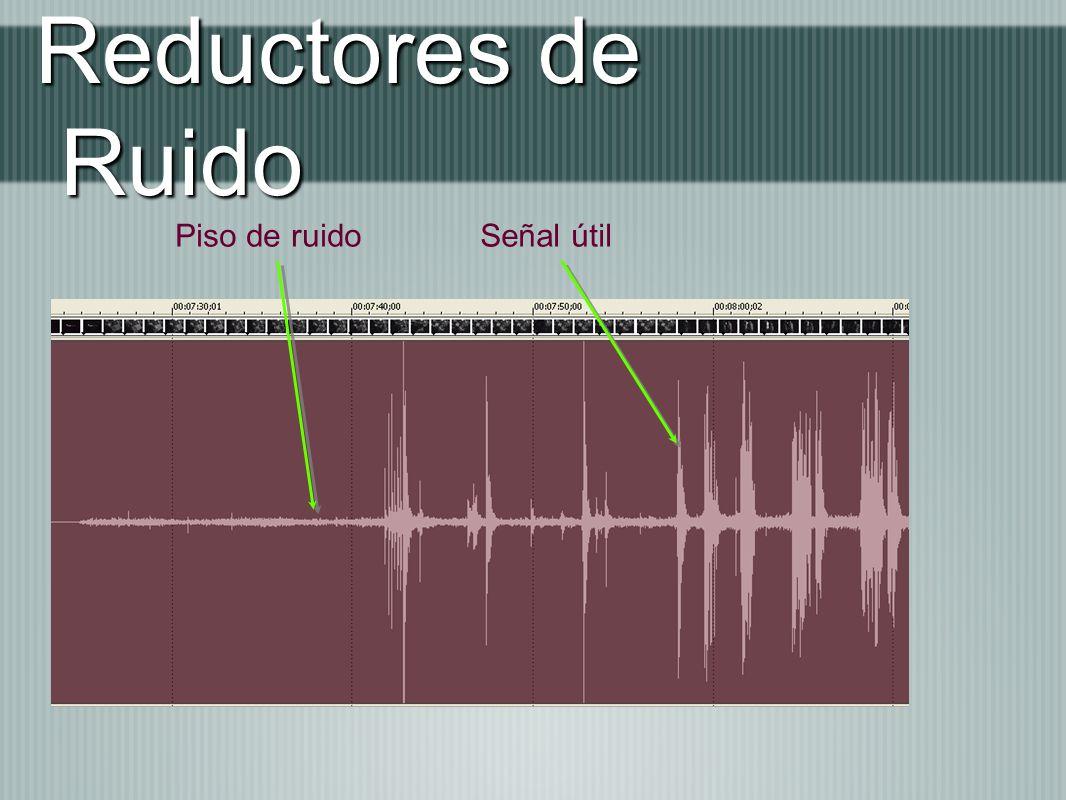 Reductores de Ruido Señal útilPiso de ruido