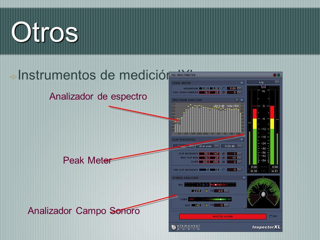 Otros Instrumentos de medición IXL Analizador de espectro Analizador Campo Sonoro Peak Meter