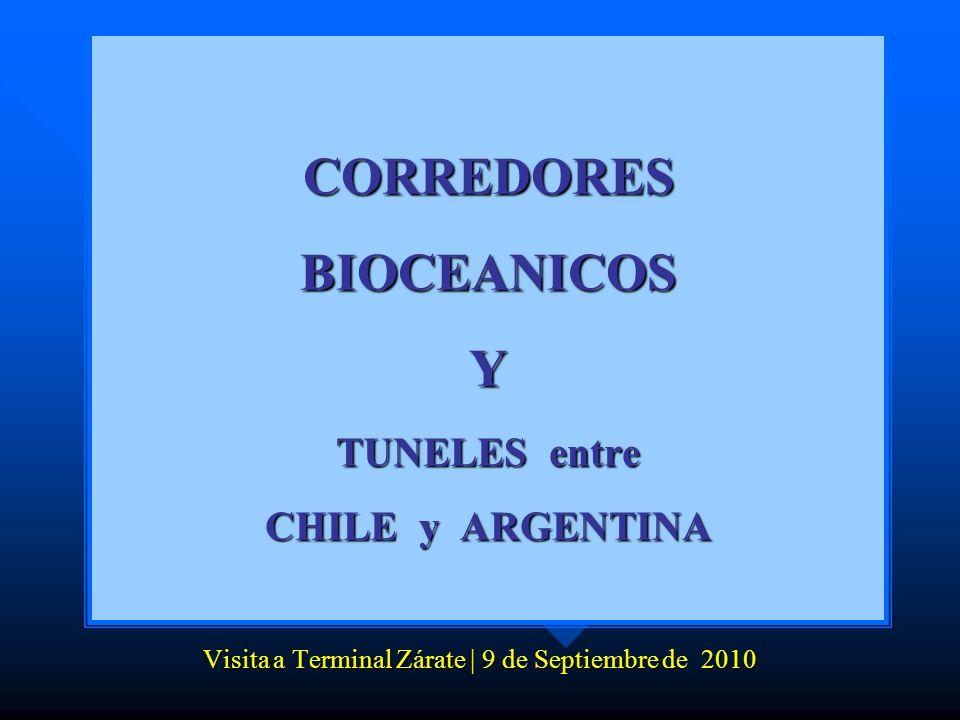 CORREDORES BIOCEANICOS Y TUNELES entre CHILE y ARGENTINA Visita a Terminal Zárate | 9 de Septiembre de 2010