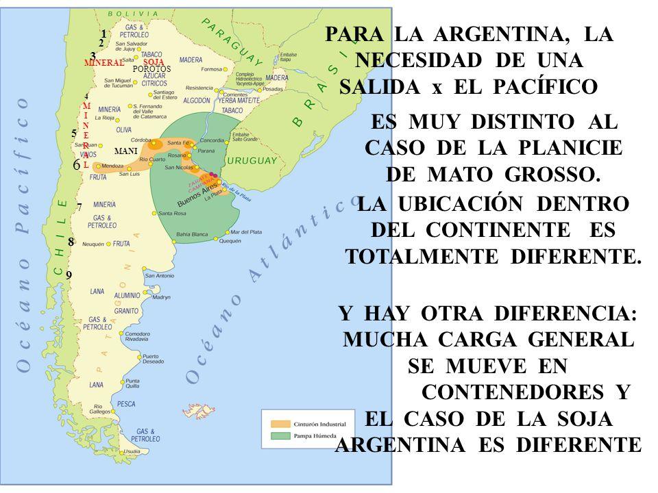 58 MMA MAPA ARGENTINA 58 POROTOS 1 2 3 4MINERAL4MINERAL 5 6 7 8 9 PARA LA ARGENTINA, LA NECESIDAD DE UNA SALIDA x EL PACÍFICO ES MUY DISTINTO AL CASO