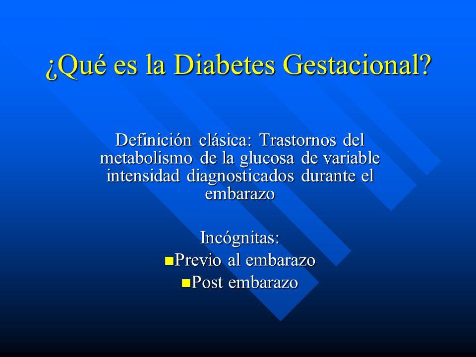 ¿Qué es la Diabetes Gestacional.