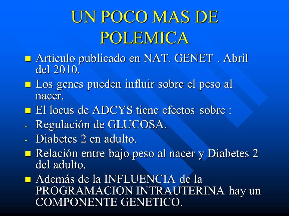 UN POCO MAS DE POLEMICA Articulo publicado en NAT.