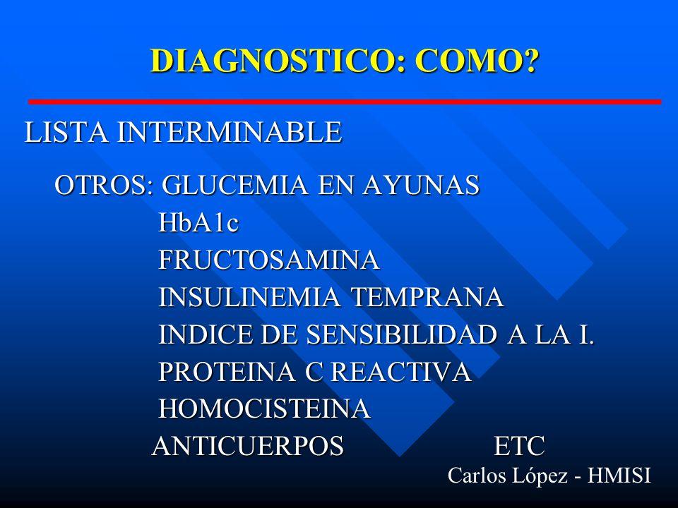 DIAGNOSTICO: COMO.