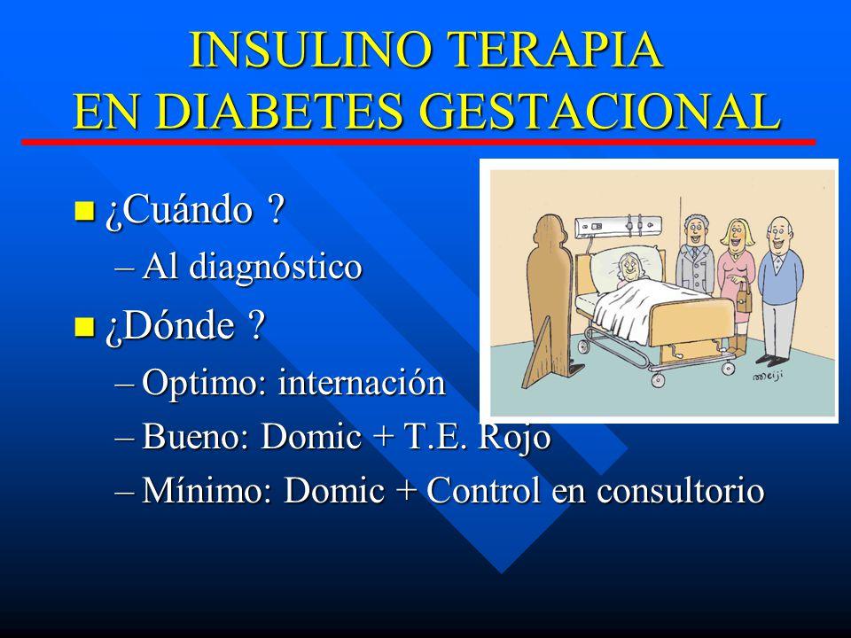 INSULINO TERAPIA EN DIABETES GESTACIONAL ¿Cuándo .