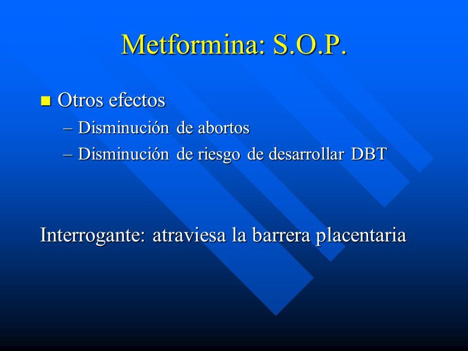 Metformina: S.O.P.