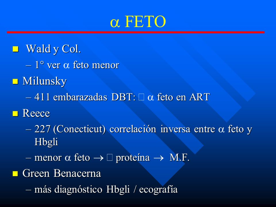 FETO Wald y Col.Wald y Col.