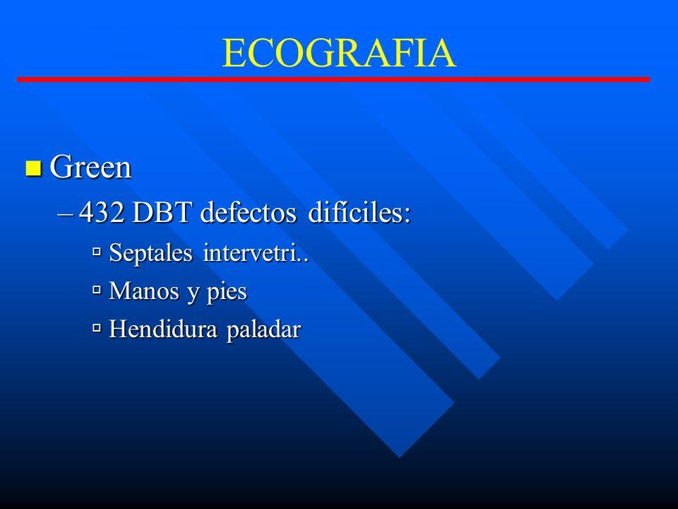 ECOGRAFIA Green Green –432 DBT defectos difíciles: Septales intervetri..