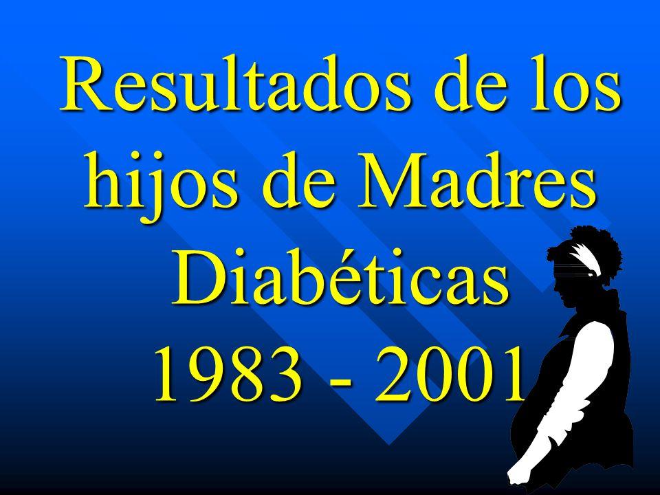 Resultados de los hijos de Madres Diabéticas 1983 - 2001
