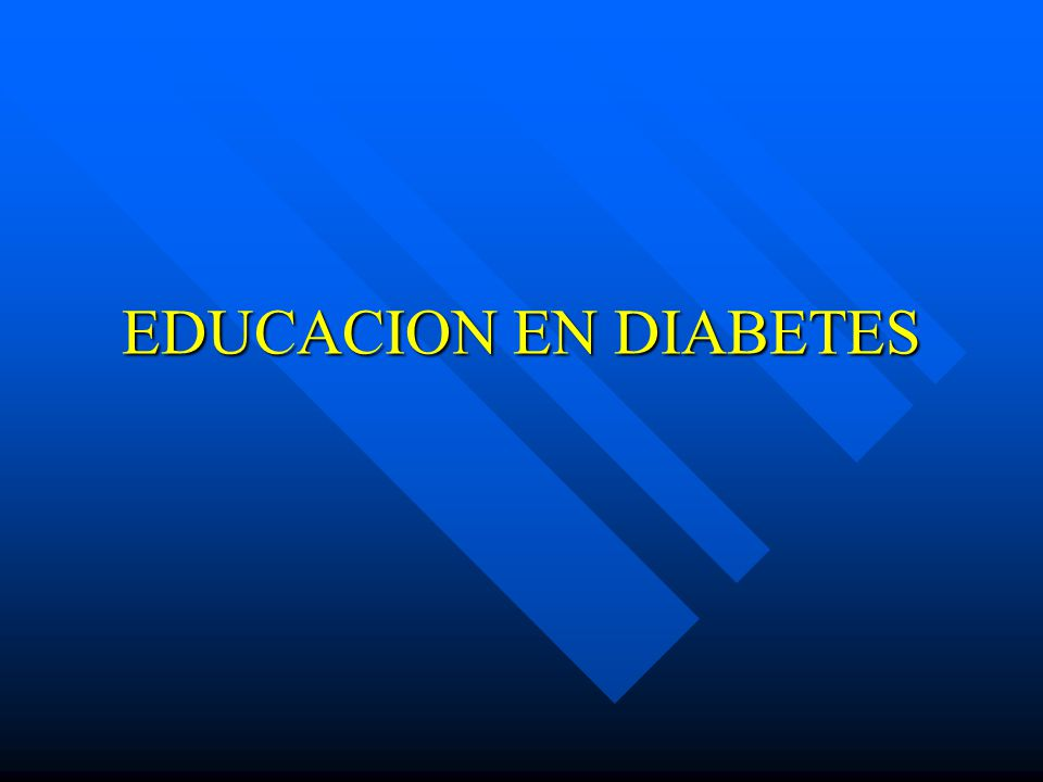 EDUCACION EN DIABETES