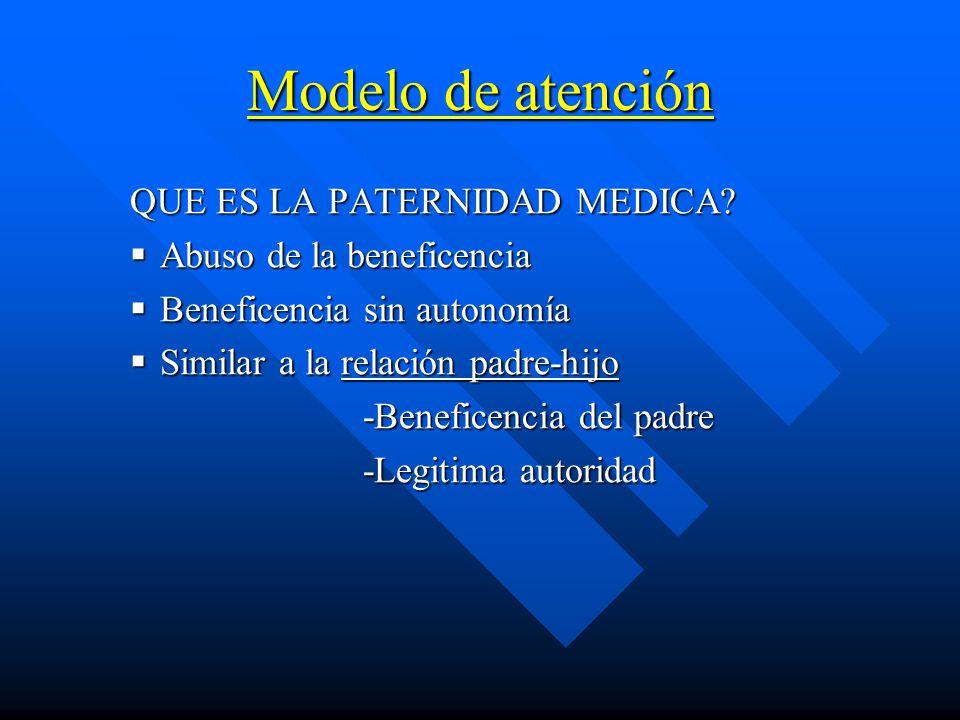Modelo de atención QUE ES LA PATERNIDAD MEDICA.