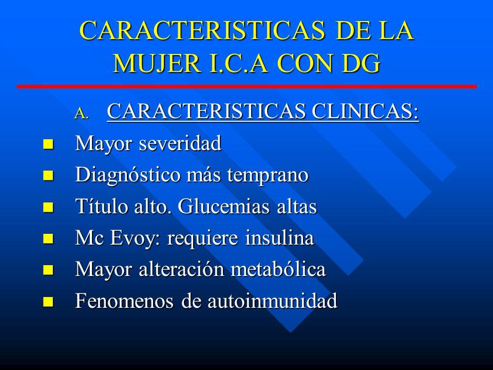 CARACTERISTICAS DE LA MUJER I.C.A CON DG A.