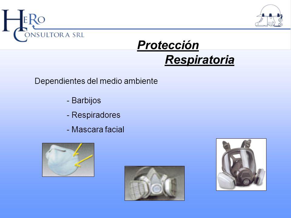 - Barbijos - Respiradores - Mascara facial Protección Respiratoria Dependientes del medio ambiente