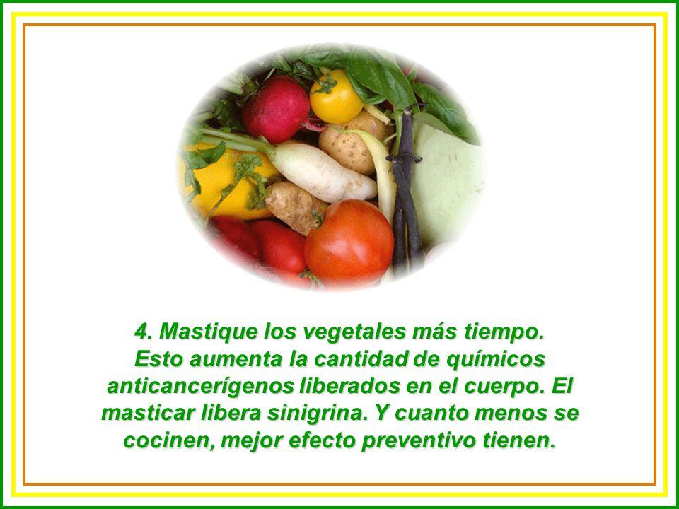 4.Mastique los vegetales más tiempo.