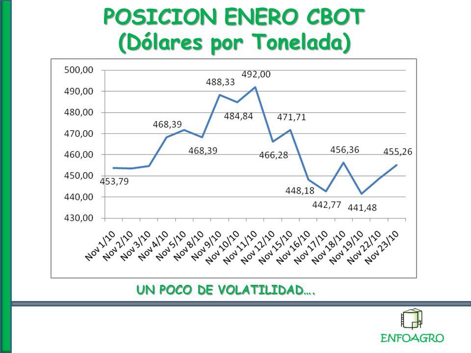 POSICION MAYO 2011 MATBA (Dólares por Tonelada)