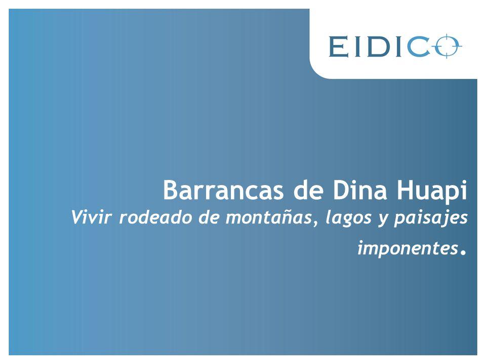 Barrancas de Dina Huapi Vivir rodeado de montañas, lagos y paisajes imponentes.