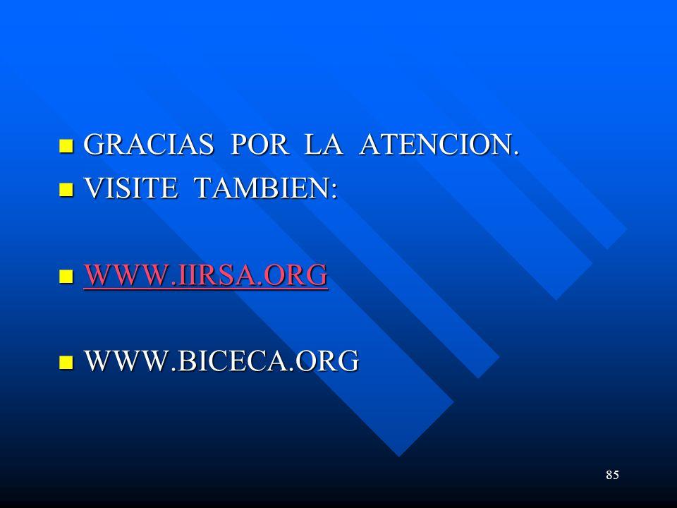 GRACIAS POR LA ATENCION. GRACIAS POR LA ATENCION. VISITE TAMBIEN: VISITE TAMBIEN: WWW.IIRSA.ORG WWW.IIRSA.ORG WWW.IIRSA.ORG WWW.BICECA.ORG WWW.BICECA.