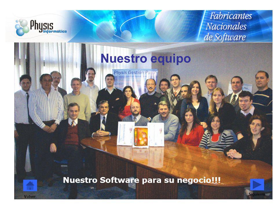 Volver Nuestro equipo Siguiente Nuestro Software para su negocio!!!