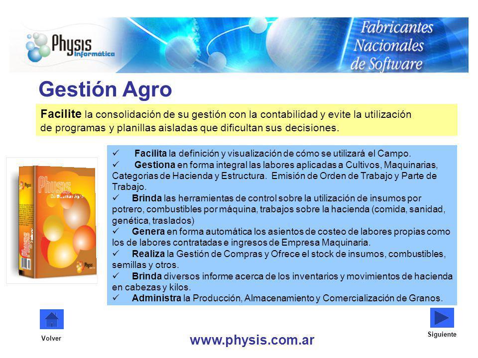 Gestión Agro Facilite la consolidación de su gestión con la contabilidad y evite la utilización de programas y planillas aisladas que dificultan sus d