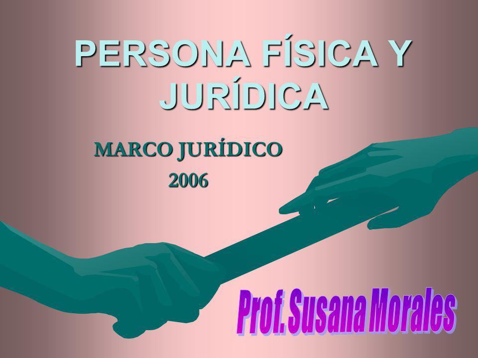 PERSONA FÍSICA Y JURÍDICA MARCO JURÍDICO 2006