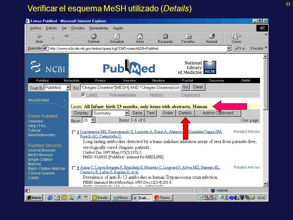 53 Verificar el esquema MeSH utilizado (Details)