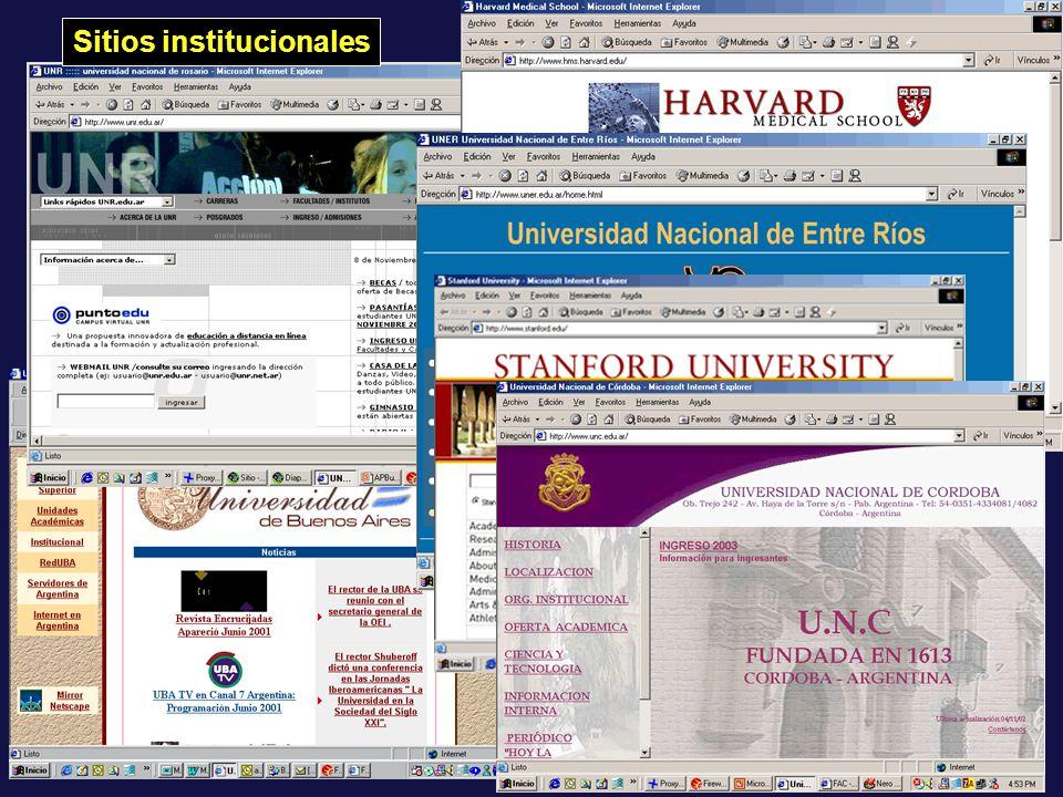 63 Sitios institucionales