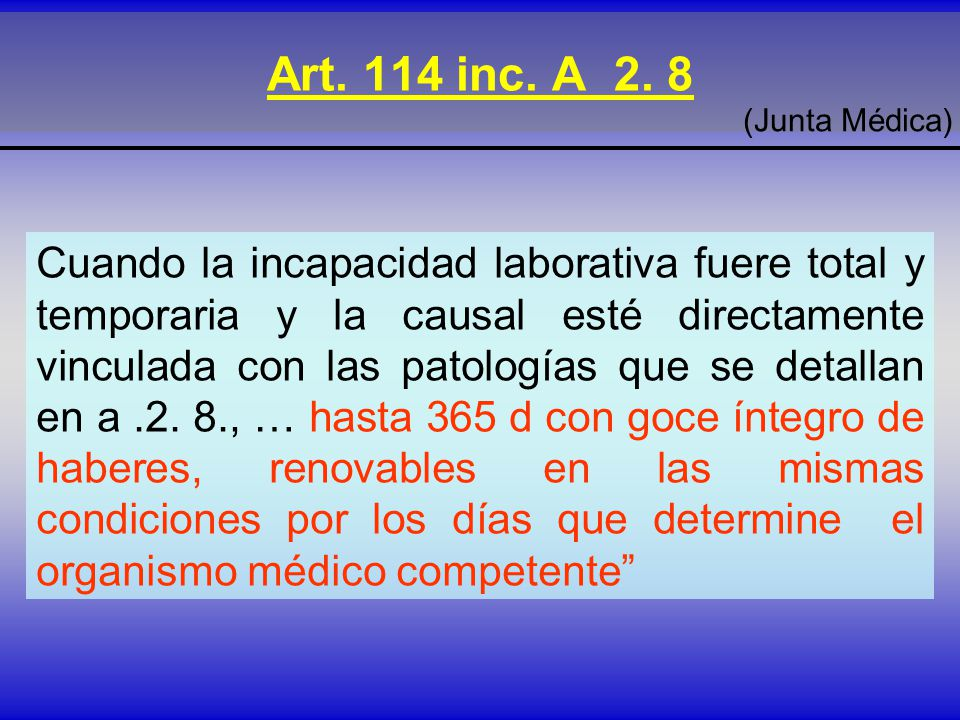 Art.114 inc. A 2.