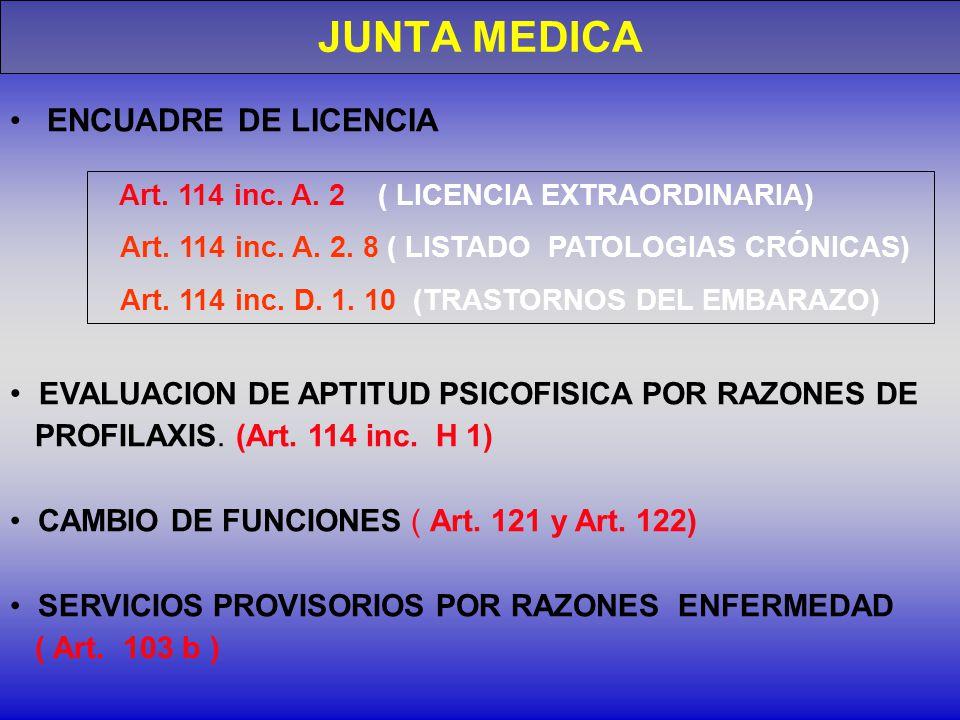 Art.114 inc. A. 2 ( LICENCIA EXTRAORDINARIA) Art.