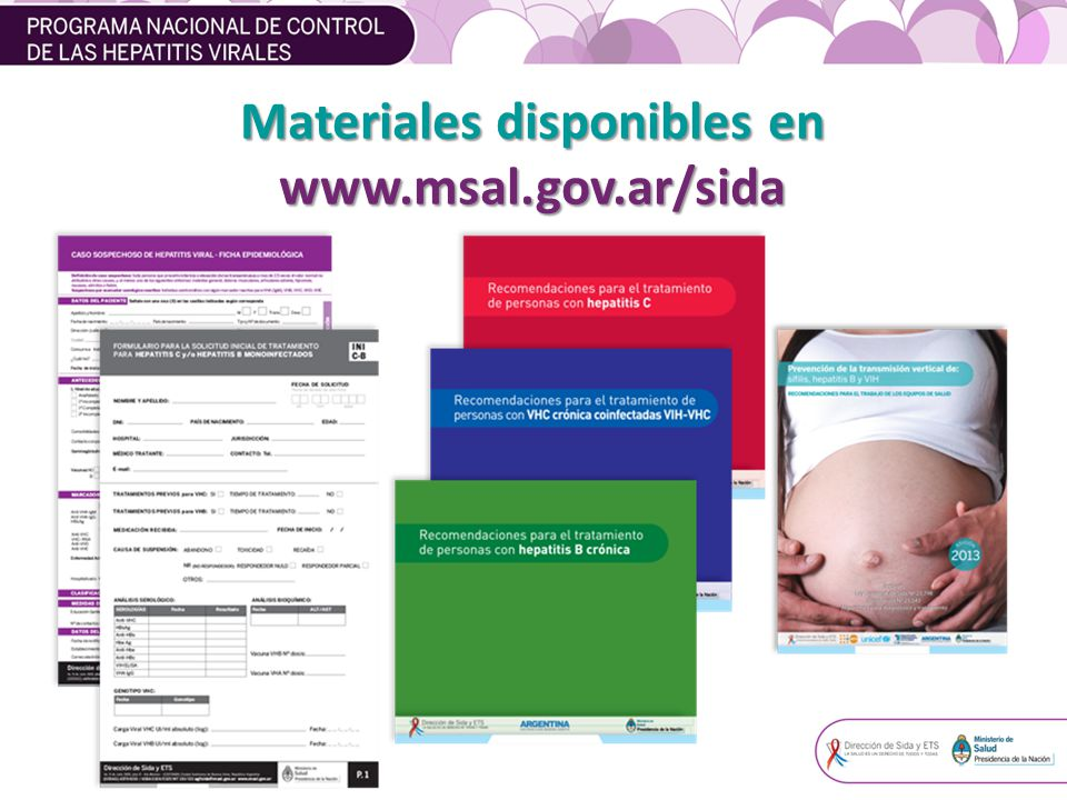 Materiales disponibles en www.msal.gov.ar/sida