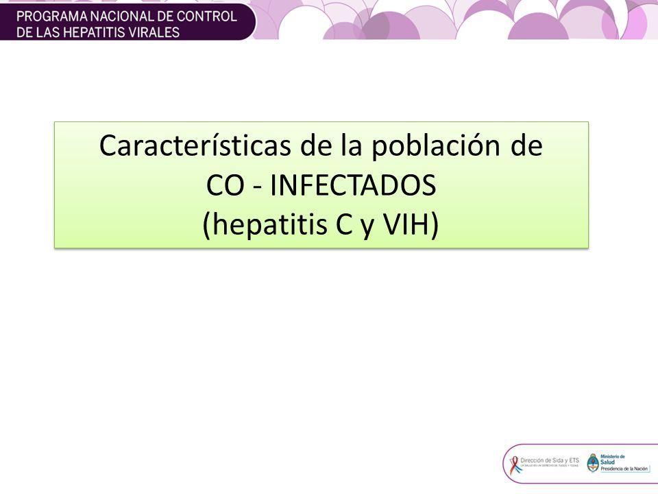 Características de la población de CO - INFECTADOS (hepatitis C y VIH) Características de la población de CO - INFECTADOS (hepatitis C y VIH)