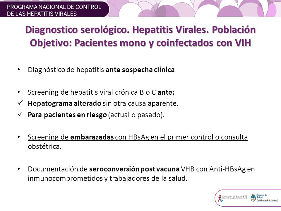 Diagnostico serológico.Hepatitis Virales.