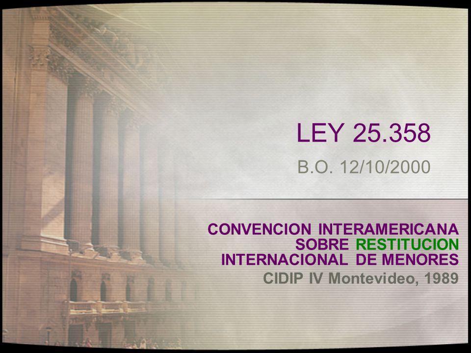 En el plano internacional: en vigencia desde 1/7/1981 art.38