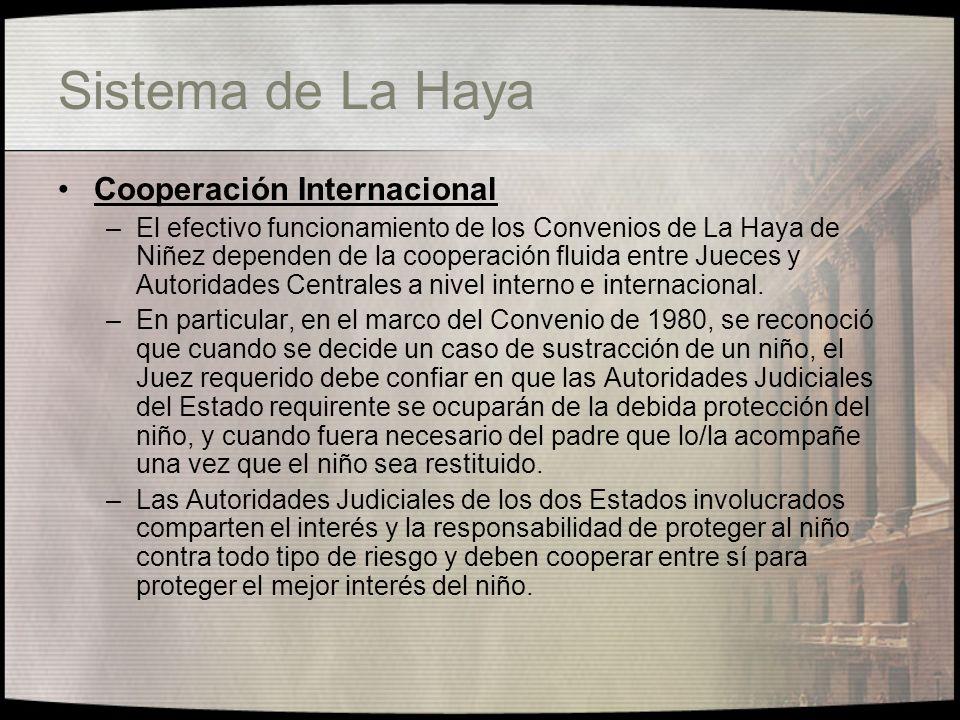 Sistema de La Haya 1 Convenio de La Haya de 25 de octubre de 1980 sobre los Aspectos Civiles de la Sustracción Internacional de Menores 2 Convenio de La Haya de 29 de Mayo de 1993 relativo a la Protección del Niño y a la Cooperación en Materia de Adopción Internacional 3 Convenio de La Haya de 19 de octubre 1996 relativo a la Competencia, La Ley Aplicable, el Reconocimiento, La Ejecución y la Cooperación en Materia de Responsabilidad Parental y de Medidas de Protección de los Niños.