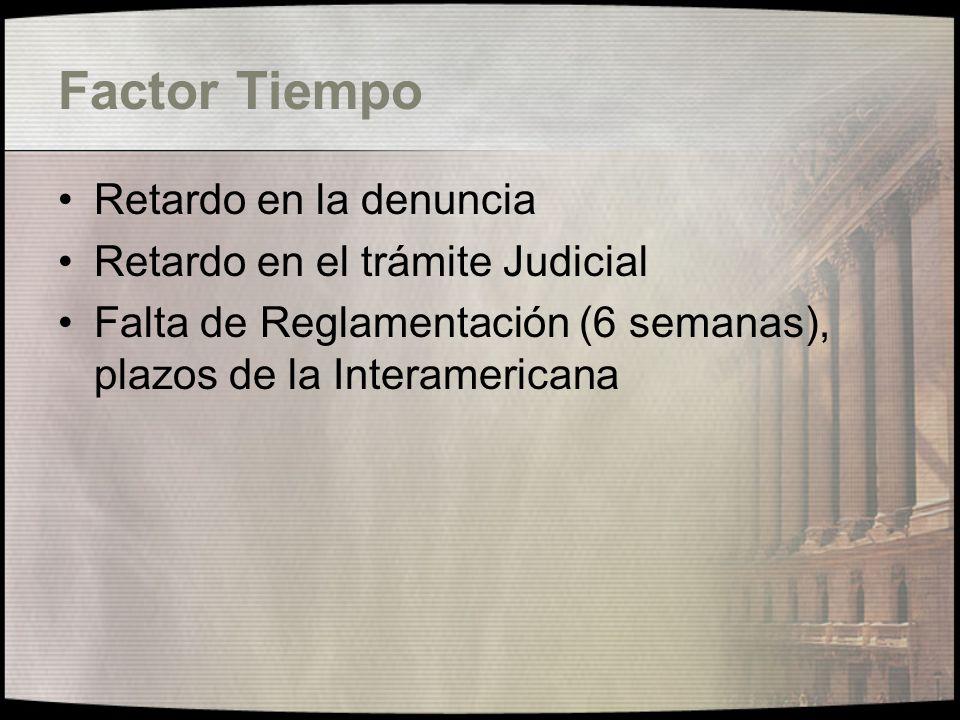 Problemas en la aplicación del Convenio Factor tiempo (arts.