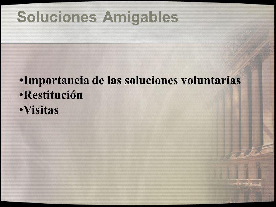 Orientación a la Víctima Denuncia inmediata Autoridad Central Datos localización Contención / Objetivización del caso Explorar posibilidad de dialogo Proyectar soluciones pos-restitución