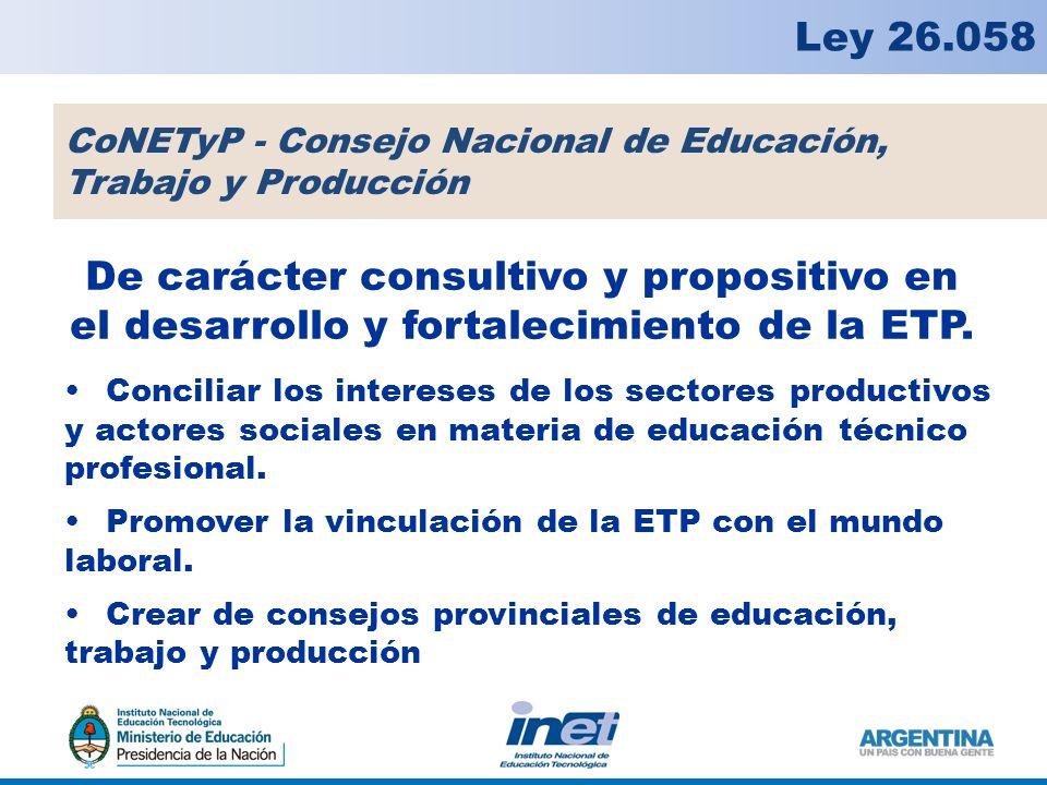 De carácter consultivo y propositivo en el desarrollo y fortalecimiento de la ETP.