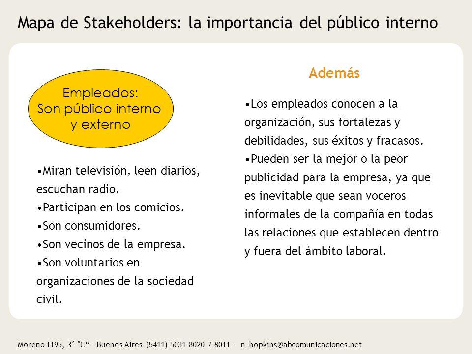 Moreno 1195, 3° C – Buenos Aires (5411) 5031-8020 / 8011 - n_hopkins@abcomunicaciones.net Comunicación y medición de RSE Red de Voluntarios Corporativos.