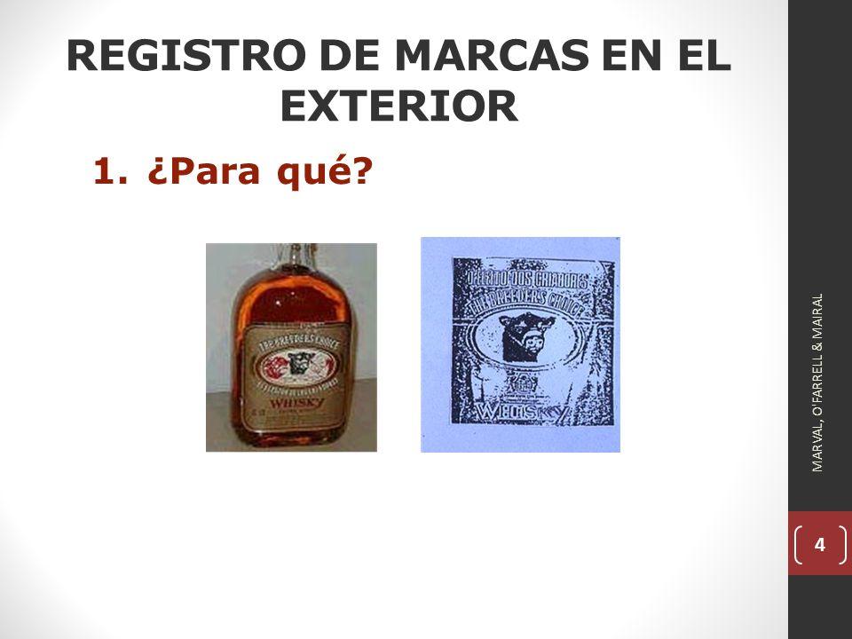4 REGISTRO DE MARCAS EN EL EXTERIOR 1.¿Para qué? MARVAL, O FARRELL & MAIRAL