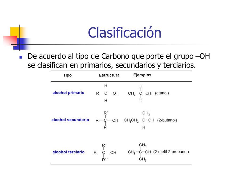 Epóxidos Compuestos que contienen un anillo de tres átomos.