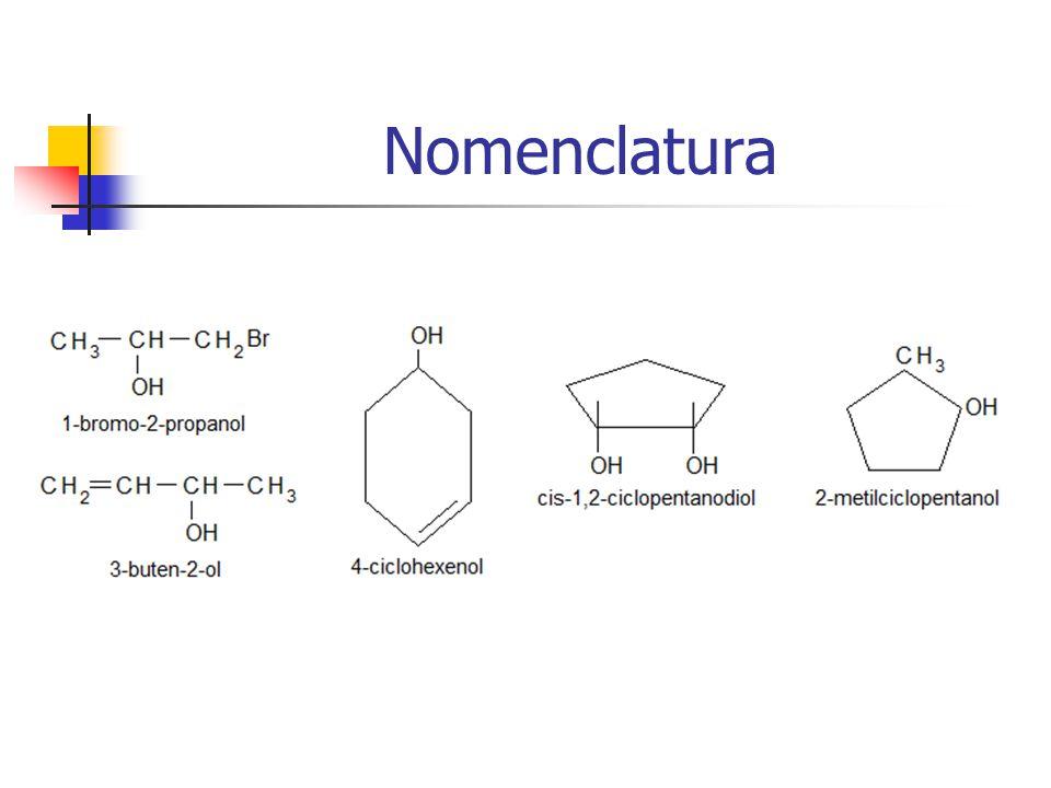 Propiedades Físicas Alcohol Alcano lipófilo R-H Agua hidrófilo H 2 O (H-OH) R-OH -OH: da a los alcoholes prop.