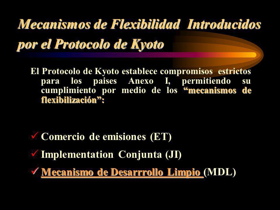 Mecanismos de Flexibilidad Introducidos por el Protocolo de Kyoto mecanismos de flexibilización: El Protocolo de Kyoto establece compromisos estrictos