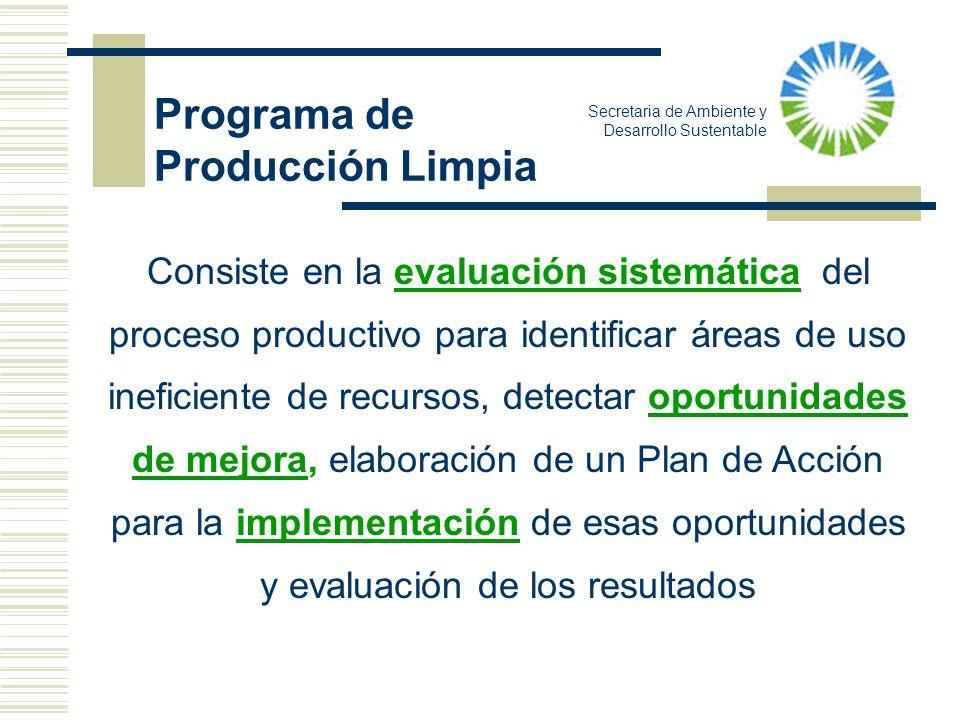 Consiste en la evaluación sistemática del proceso productivo para identificar áreas de uso ineficiente de recursos, detectar oportunidades de mejora,