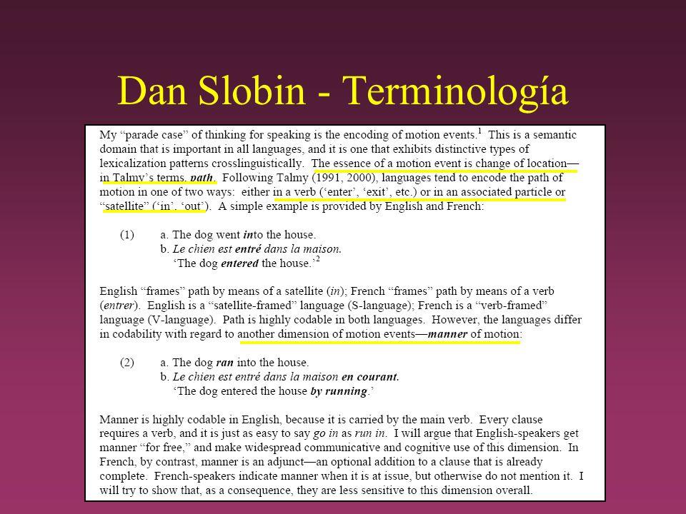 Dan Slobin - Terminología