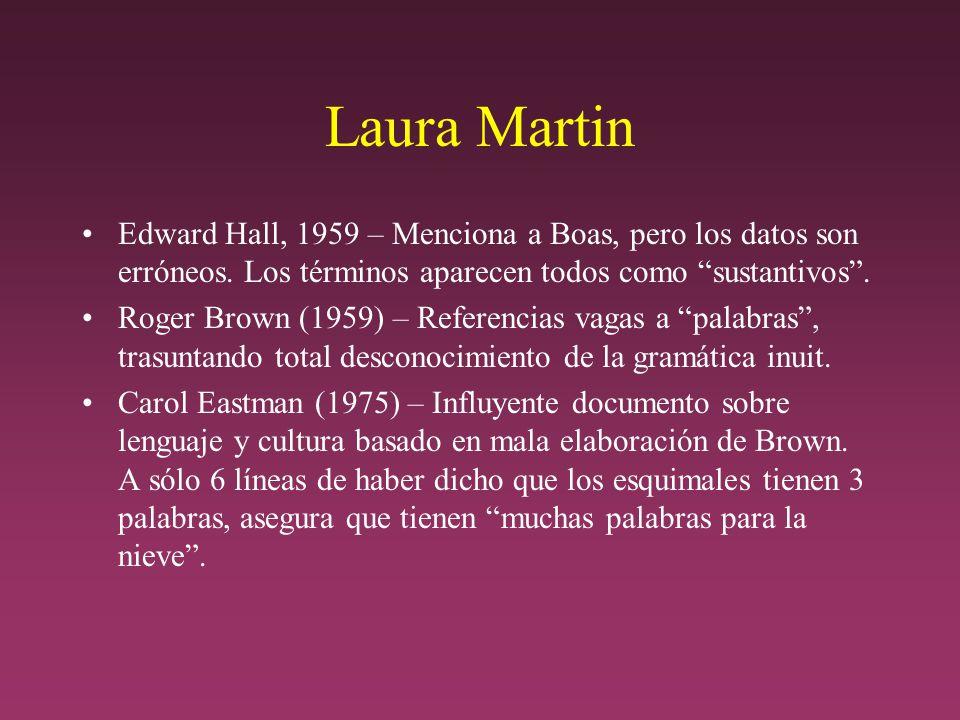 Laura Martin Edward Hall, 1959 – Menciona a Boas, pero los datos son erróneos.