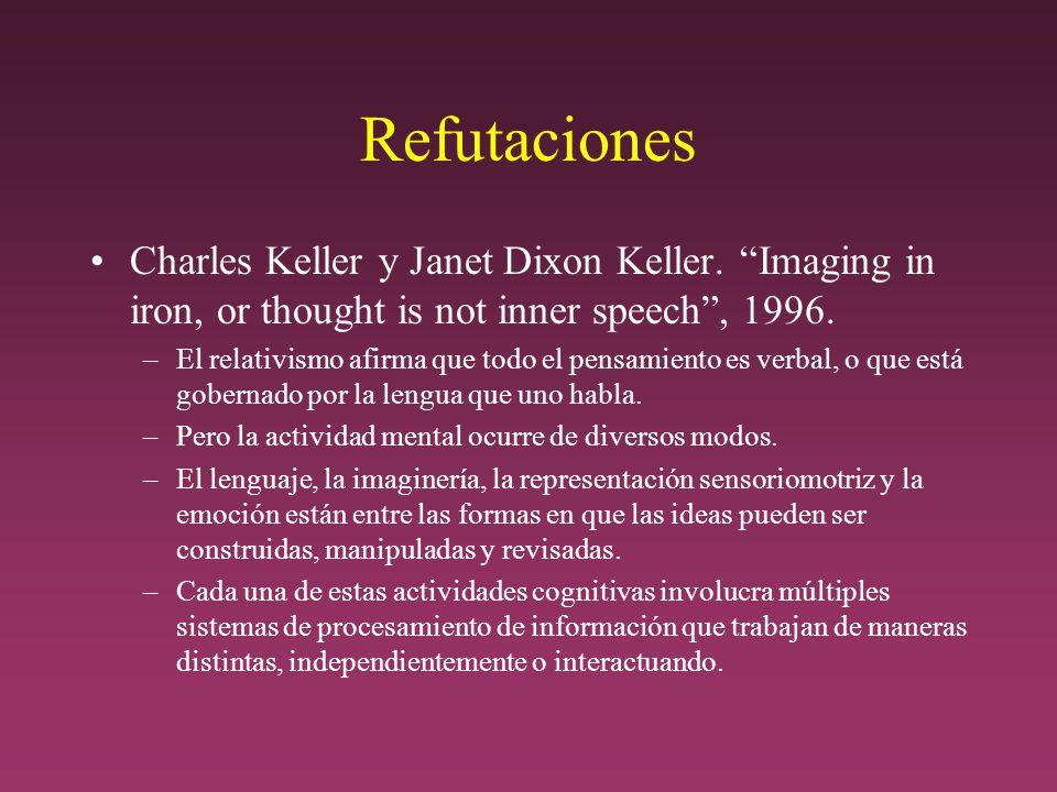 Refutaciones Charles Keller y Janet Dixon Keller.