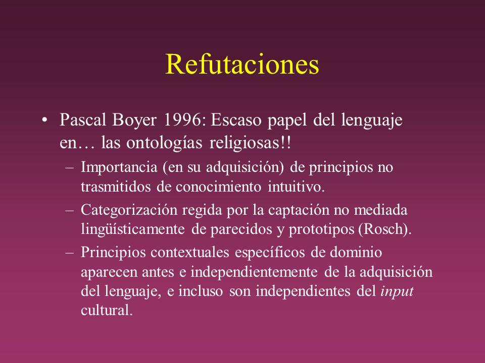 Refutaciones Pascal Boyer 1996: Escaso papel del lenguaje en… las ontologías religiosas!.
