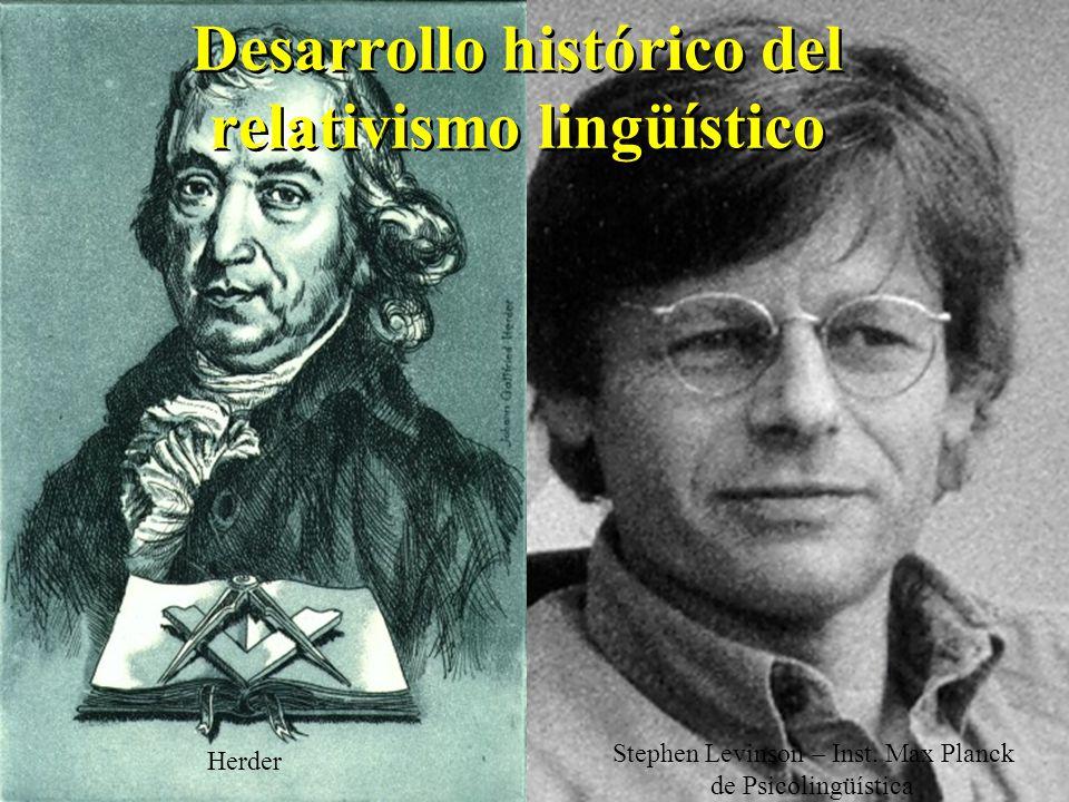 Desarrollo histórico del relativismo lingüístico Herder Stephen Levinson – Inst.