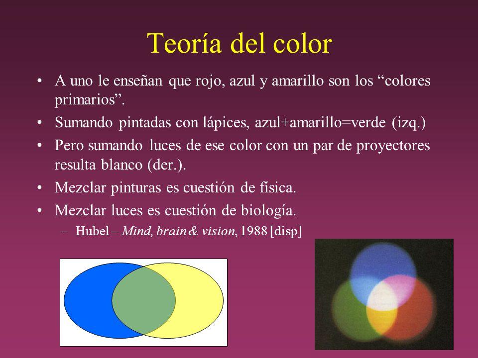 Teoría del color A uno le enseñan que rojo, azul y amarillo son los colores primarios.