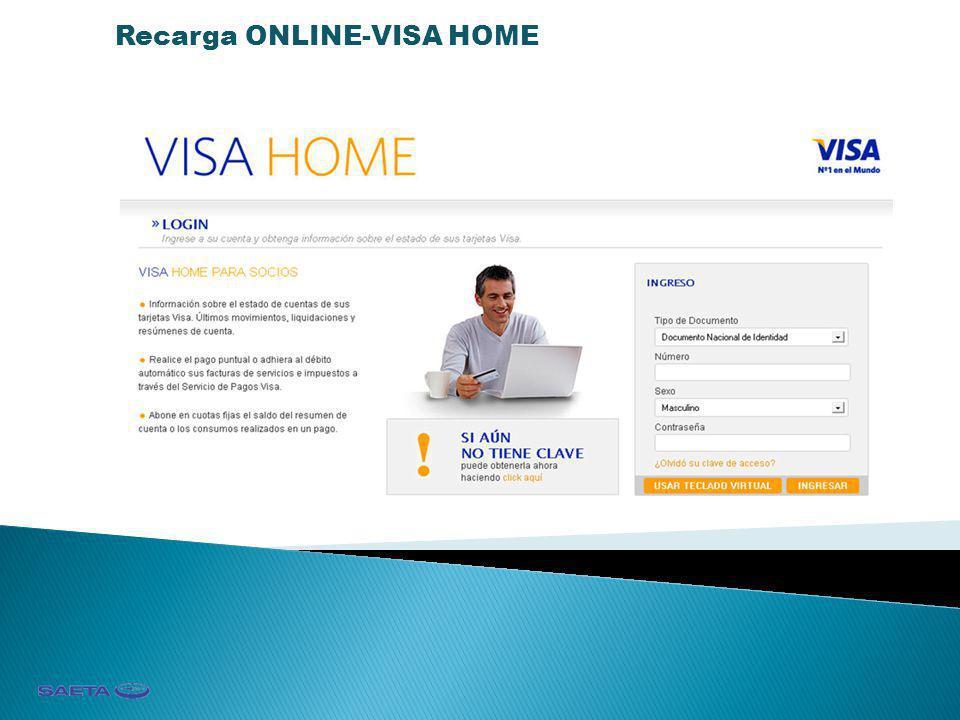 Recarga ONLINE-VISA HOME