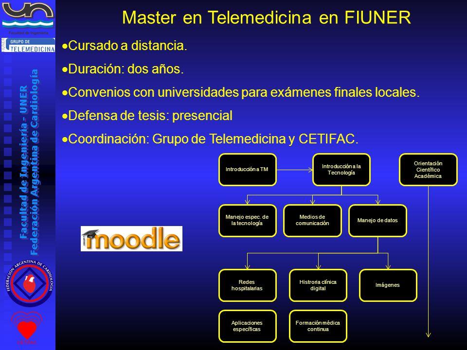 Facultad de Ingeniería - UNER Federación Argentina de Cardiología Orientación Científico Académica Introducción a TM Introducción a la Tecnología Manejo espec.