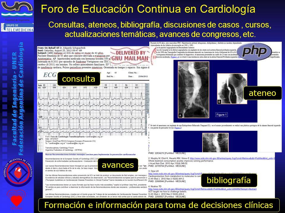 Facultad de Ingeniería - UNER Federación Argentina de Cardiología www.fac.org.ar/campus